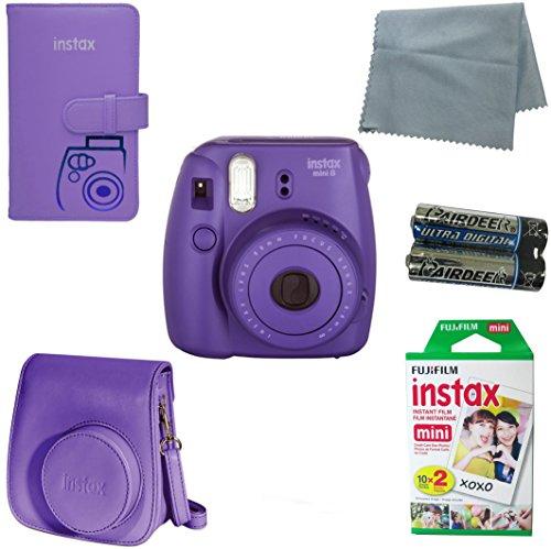 Fujifilm Instax Mini 8 Instant Camera Bundle with Accessory Kit (6 Items) (Fujifilm Instax Mini 7s Camera compare prices)