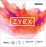 D\'Addario Bowed Jeu de cordes pour contrebasse D\'Addario Zyex, manche 3/4, tension Medium