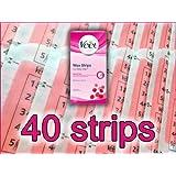 40 STRIPS - Veet Wax Strips with Easy Grip & Shea Butter