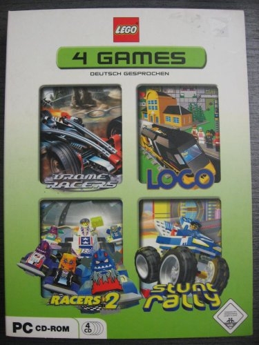 LEGO 4 PC GAMES Bionicle - Drome Racers Loco Racers 2 Stunt Rally