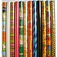 5 Rollen Geschenkpapier 70 x 200 cm, versch. Muster / Designs, Sparset