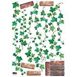 Reusable Decoration Wall Sticker Decal - Hanging Brick Ivy