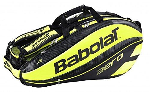 Babolat Rh Pure Aero Portaracchette (Per 9 Racchette), Nero/Giallo