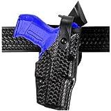 Safariland 6360 Level III ALS Retention Duty Holster, Mid-Ride, Black, STX Basketweave, Glock 17, 22 with ITI Streamlight M3 Light