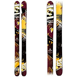Buy Salomon Q-105 Skis Bordeaux Brown Black Mens by Salomon