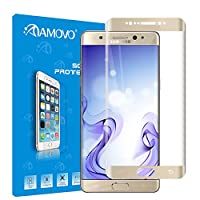AMOVO® Galaxy Note 7 Screen Protector, [Full Coverage] [3D Tempered Glass] Curved Tempered Glass Screen Protector for Samsung Galaxy Note 7 [9H Hardness] [Anti-Scratch] [Ultimate Clarity] (Gold) by AMOVO