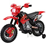 TOP QUALITY TWO WHEEL RED MOTORBIKE MOTOCROSS HONDA XL STYLE CYCLE RIDE ON CAR FOR KIDS CHILDREN 6 VOLT RECHARGEABLE BATTERY OPERATED FUN TOY