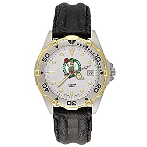 NSNSW22054P-Mens All Star Boston Celtics Leather Watch by NBA Officially Licensed
