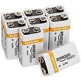 Baterías Alcalinas AmazonBasic de 9V, paquete de 8