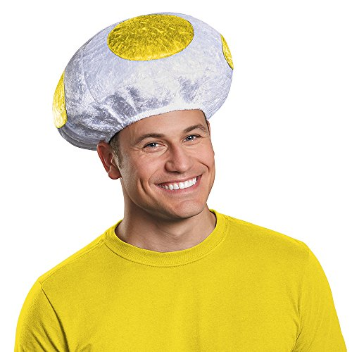 Disguise Men's Mushroom Hat Costume Accessory - Adult Yellow