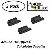 Around The Office Compatible Package of 3 Individually Sealed Ink Rolls Replacement for CASIO HR-8-TM Calculator