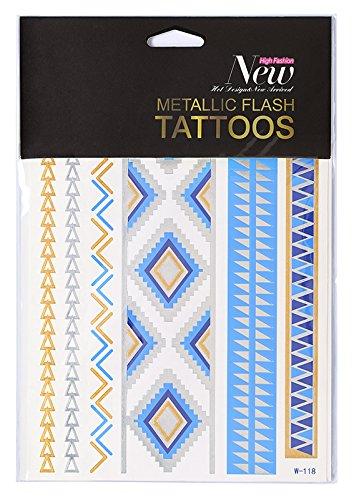 metallic-flash-tattoos-verschiedene-designs-inca-pyramids-das-hauttattoo-im-metallic-look-fur-den-bl