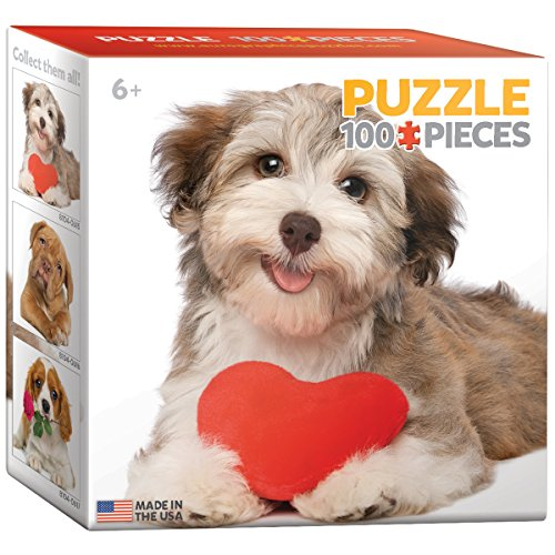 EuroGraphics Dog with Heart Mini Puzzle (100-Piece)