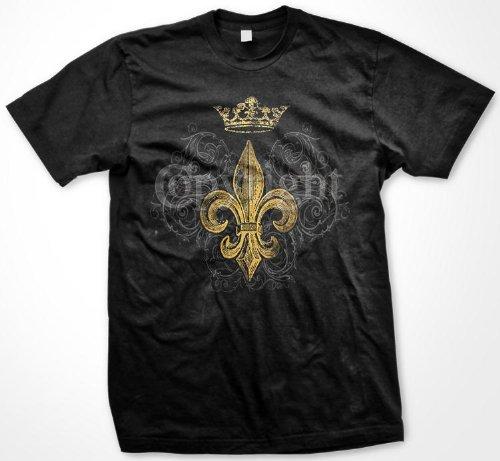Gold Fleur De Lis T-shirt, Fleur De Lis Tattoo T-shirt