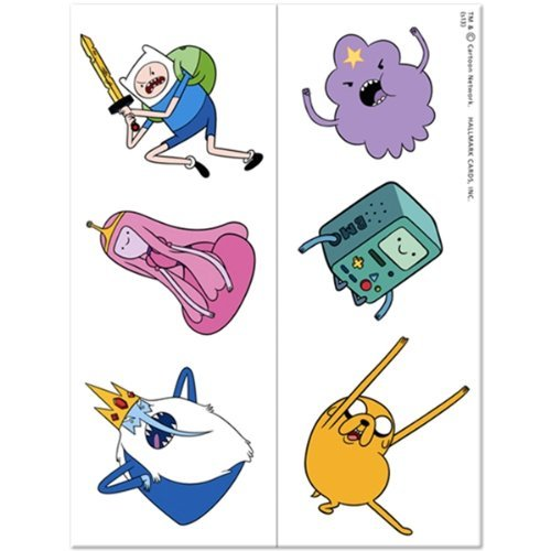 Adventure Time Temporary Tattoo Party Favors (12 ct) - 1