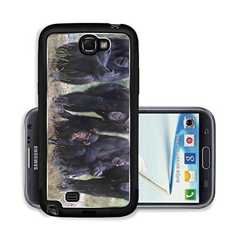 Luxlady Premium Samsung Galaxy Note 2 Aluminium Snap Case When Monkey s Go Bad IMAGE ID 221188
