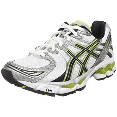 ASICS Men's GEL-Kayano 17 Running Shoe,Snow/Black/Lime,6 M