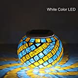 Mosaic Color Changing LED Solar light, Waterproof Flameless Light Lamp for Indoor or Outdoor Decorations