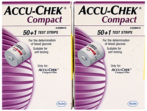 Accu-Chek Compact 51 Test Strips – For use with Compact PLUS Meters Only- PACK OF 2 BOXES