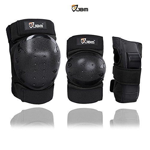 JBM Sports Protective Gear safety pad Safeguard (Knee Elbow Wrist) Support Pad Set equipment for Adult roller bicycle BMX bike skateboard extreme sports bogu protector Guards Pads (Skate Protective Gear compare prices)