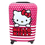 Hello Kitty Dotted Lines 22 Inch ABS Spinner Luggage