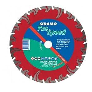 Sidamo - Disque a tronconner diamant pro speed - Ø mm.125 - Alésage mm.22,23 - Haut. mm.10 -
