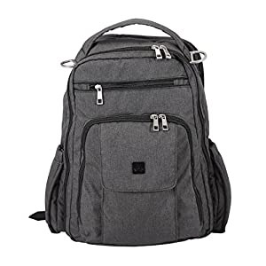 Be Right Back Diaper Bag - Chrome by Ju-Ju-Be