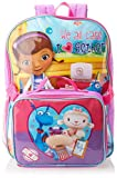 Disney Little Girls'  Doc Mcstuffins Backpack with Lunch Set, Purple, One Size
