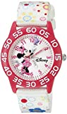ディズニー Disney Infinity Kids' W002462 Minnie Mouse Analog Display Analog Quartz White Watch [並行輸入品]