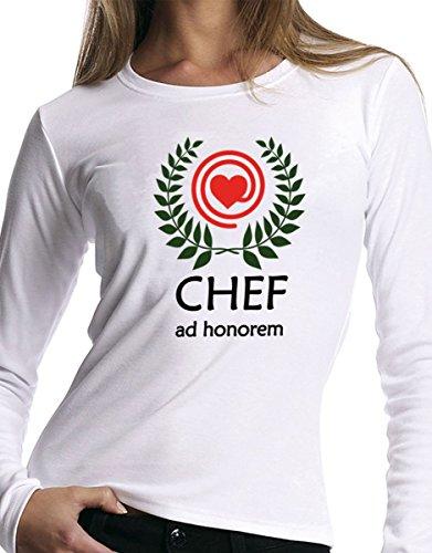 """t-shirt manica lunga festa della Mamma -""""Chef ad Honorem"""" - S M L XL XXL uomo donna bambino maglietta by tshirteria"""