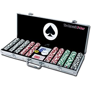 Trademark Poker 4 Aces 500 11.5G Poker Chip Set with Aluminum Case