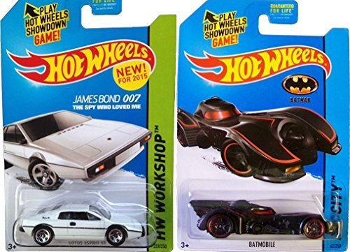 Batmobile & James Bond Hot Wheels Lotus 2015 Movie Car Set - 1