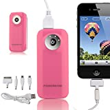 TOPCHANCES Light Weight 5600mAh External Power Bank Charger for Smart Phones and Other Digital Devices Such as iPhones, Android and Tablets With USB-Light Pink