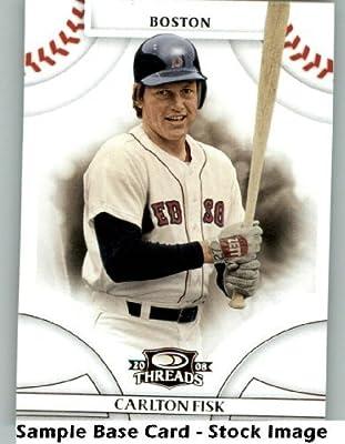 Carlton Fisk - Boston Red Sox - 2008 Donruss Threads - MLB Baseball Trading Card