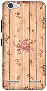 The Racoon Lean Beige Flower Wood hard plastic printed back case / cover for Lenovo Vibe K5 Plus