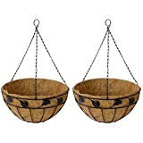 Garden King Hanging Basket Black Set Of 2