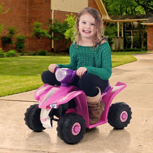 Ride On Toy Quad, Battery Powered Ride On Toy ATV Four Wheeler by Lil' Rider  – Ride On Toys for Boys and Girls, For 2 - 5 Year Olds (Pink and Purple)