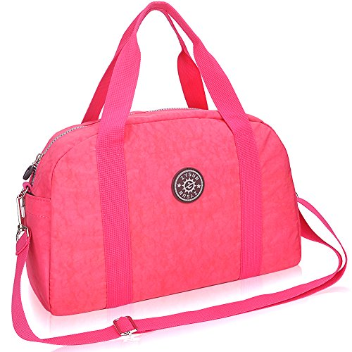 zysun-womens-nylon-large-capacious-handbag-classic-shopping-tote-casual-shoulder-bag-nb-607bright-pi