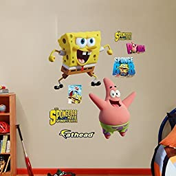 Fathead SpongeBob and Patrick-Sponge Out of Water Vinyl Decals by Fathead