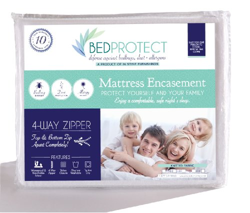 Buy Instyle Furnishing Premium 100% Waterproof Mattress Encasement Protector, Hypoallergenic, Knitte...