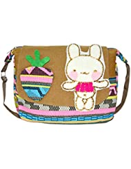 Quick Fashion Multi Color PU Material Sling Bag