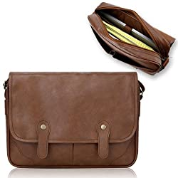 Duzign Rover Messenger Bag (Light Brown) for 13 Inch MacBook Pro with Retina Display + Pocket for Apple iPad