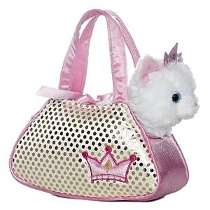 Aurora World Plush Princess Kitty Fancy Pals Pet Carrier