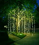 """Starry String Lights 60 ft / 360 Leds for Christmas Decorations 2015. Warm White Bulbs on Ultra-thin Copper Wire 2"""" Apart for Richer Brighter Lighting. Tips E-book Included. 120 /240v Pw Adapter"""