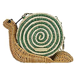 Kate Spade Limited Edition Spring Forward Wicker Snail Bag PXRU5485 Natural Spring Green