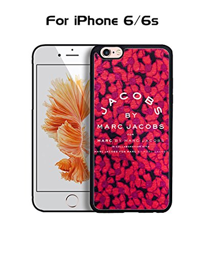 Marc Jacobs Iphone 6 Custodia Case, Brand Logo Protecive Snap On Anti Slip Vintage Personalized Ultra Slim Fit for Iphone 6 / 6s (4.7 inch)