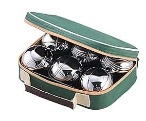 Boule Set of 6 - Polished Alloy Petanque Set