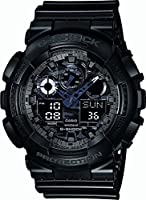 Casio Herren-Armbanduhr XL G-Shock Analog - Digital Quarz Resin GA-100CF-1AER