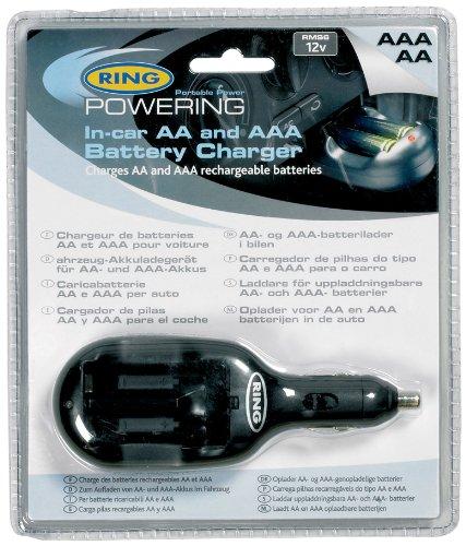 Ring Automotive RMS6 Batterieladegerät für AA und AAA Batterien, 12 V