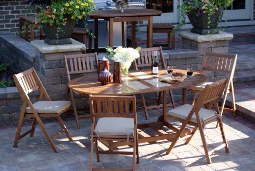 Outdoor-Interiors-S10666G-7-Piece-Oval-Fold-and-Store-Table-Set-with-Cushions-and-Cover
